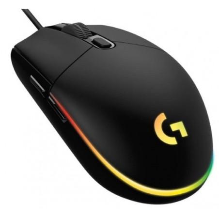 Logitech G102 Lightsync, herní myš, RGB podsvícení, USB, černá