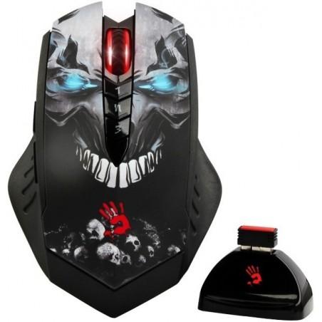 A4tech BLOODY R80 CORE 3, bezdrátová herní myš, rozlišení až 3200DPI, černá, USB